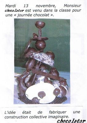 Atelier Chocolat CE1 (Classe de Mélody)